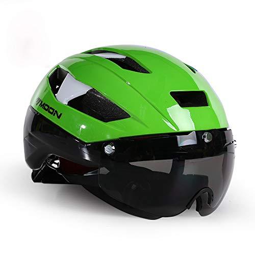 CARWORD Ligero Transpirable con Gafas Magnéticas Desmontables Carretera Cascos Bicicleta Ultra Ligero