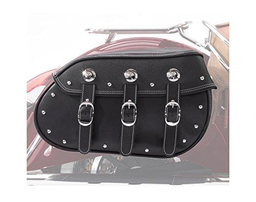 Saddlebag Leather Motorcycle Genuine (Indian Motorcycle Black Genuine Leather Quick Release Saddlebags)