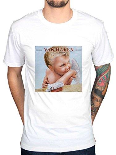 (AWDIP Men's Official Van Halen 1984 Album Cover T-Shirt Rock Band Music Jump)