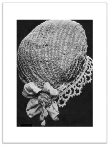 Boudoir Cap - #2688 BOUDOIR CAP VINTAGE CROCHET PATTERN