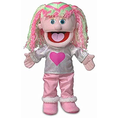 "14"" Kimmie, Pink Girl, Hand Puppet"