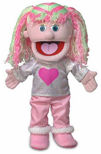 14 Kimmie, Pink Girl, Hand Puppet 14 Kimmie Silly Puppets SP3591D