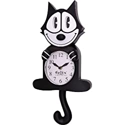 BLUE ISLAND Felix The Cat, 3D motion wall clock, size 44 x 19 x 7, birthday gift, cat lovers, collection gift.