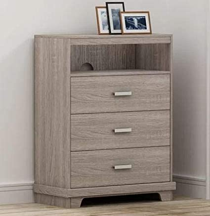 Amazon.com: Chester Drawers - Sonoma Wood Three Drawer with Open Top ...