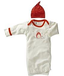 Babysoy Organic Layette Gown Newborn Gift Set, Neutral Baby (0-3 Months, Penguin)
