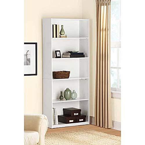 - Mainstay` Orion Wide 5-Shelf Bookcase (Black, 5-Shelf) (White, 5-Shelf Standard)