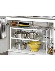 Denny International Under Sink Caddy Rack Storage Organiser Shelf Unit Adjustable Shelves Cabinet