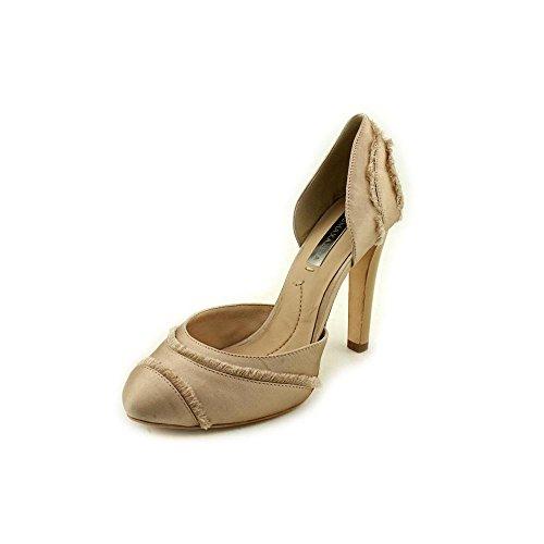 bcbg-max-azria-amaris-womens-size-6-nude-textile-pumps-heels-shoes