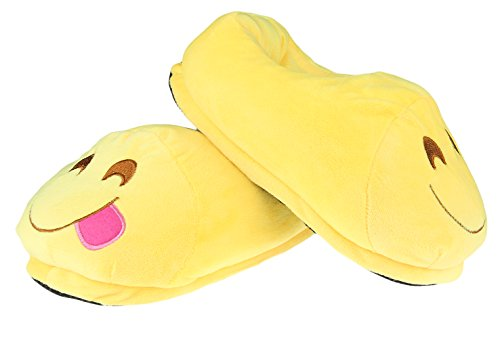 V-SOL Chanclas Invierno Emoji Emoticon Zapatillas Unisex Modelo A
