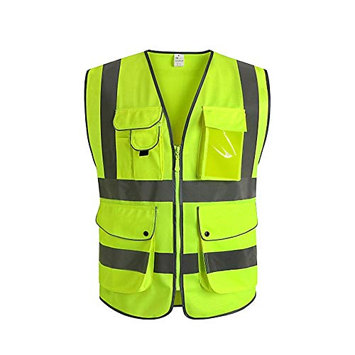 Workplace Safety Supplies Safety Clothing Objective Yellow Reflective Vest Reflective Jacket High Visibility Knitted Reflective Safety Vest Logo Printing Vest Safety On Road Firm In Structure