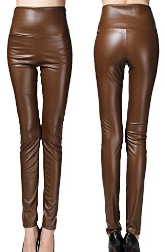 Brown Leather Motorcycle Trousers - 4