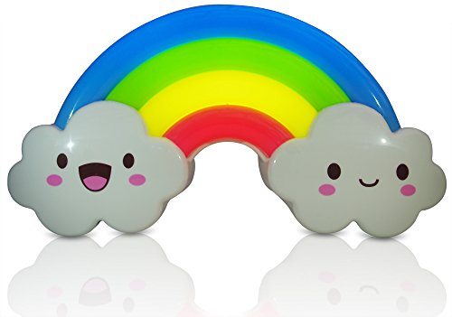 Baby Night Light Lamp for Toddler Kids & Children Rainbow Design Activated By Sound Sensor Wall Decoration Makes Perfect Baby Shower Gift by Salsa and Gigi