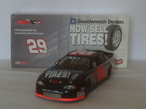 Action Racing Collectables Hood (Kevin Harvick #29 GM Monte Carlo On A Roll Goodwrench Dealers Now Sell Tires 2002 Monte Carlo 1/24 Scale Diecast Opening Hood Opening Trunk Action Racing Collectables Limited Edition)