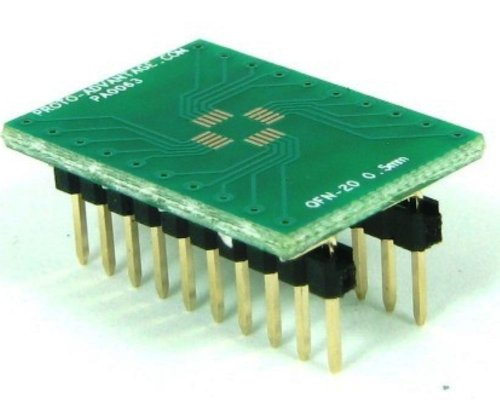 Proto-Advantage QFN-20 to DIP-20 SMT Adapter (0.5 mm pitch, 4 x 4 mm (Qfn Dip Adapter)