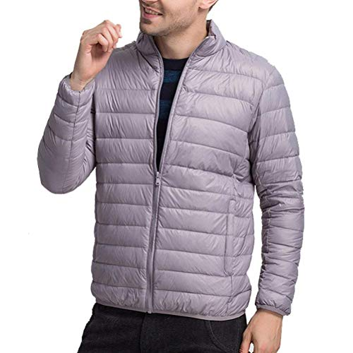 Outwear Warm Simple Boys Larga Cuello Down Abrigo Abrigos Winter Lanceyy Manga Alto Jacket De Lightweight Mens Abrigo Oscuro Estilo Gris wxtq0
