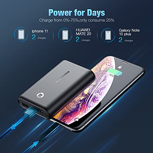 Power Bank 15000mAh, High-Capacity USB Portable Charger with Dual 5V/2.4A Output Fast Charging External Battery Pack Compatible with iPhone 12/11, Samsung, Tablets and More