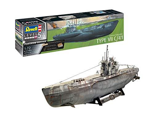 Revell Germany Level 1/72 Germany Naval Submarine Type VIIC / 41 (Premium Edition) Model 05163, RV05163