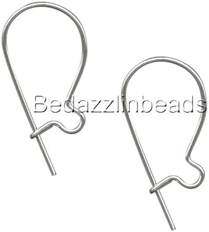 20 SILVER PLATED KIDNEY SHAPED EARRING HOOKS FOR YOU TO MAKE YOUR EARRINGS
