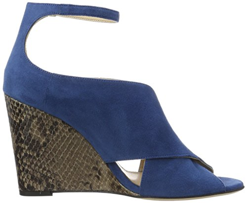 428 Danielle Wedge Medium Blue Blue Women's HUGO 01 Sandals Heels 10195652 vAwI5gq