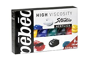 Acrilicos Pebeo Alta Viscosidad Studio 6 X 100ml