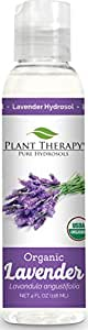 Plant Therapy Organic Lavender Hydrosol. (Flower Water, Floral Water, Hydrolats, Distillates) Bi-Product of Essential Oils. 4 oz.