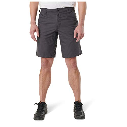 5.11 Tactical Men's Terrain Shorts, Full Running Gusset, Cotton Twill, Walking Length, Style 73341
