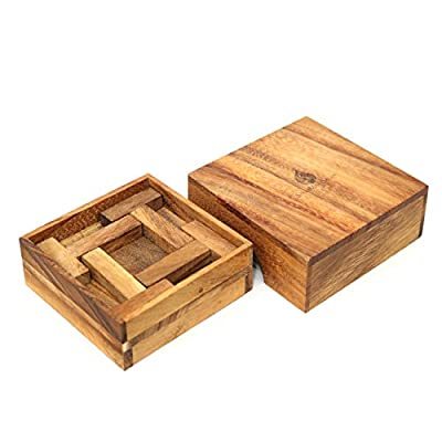 Ilium Remains: Coffee Table Game or Office Decor Puzzle. Stacking Box Challenge 3D Brain Teaser Wooden Puzzle for Adults from SiamMandalay with SM Gift Box(Pictured): Toys & Games