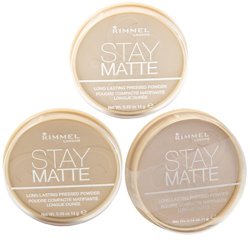 Rimmel Stay Matte Pressed Powder, Creamy Natural, Natural and Nude Beige with Dimple Bracelet