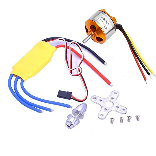 HappyCow A2212 1000KV Outrunner Brushless Motor + 30A ESC Electric Speed Controller Set for RC Aircraft Plane Multi-copter Quadcopter