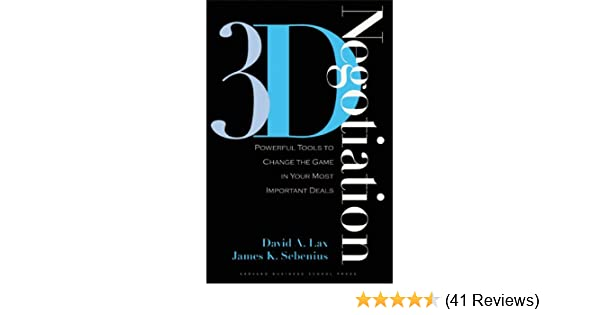 Amazon 3 d negotiation powerful tools to change the game in amazon 3 d negotiation powerful tools to change the game in your most important deals ebook david a lax james k sebenius kindle store fandeluxe Images