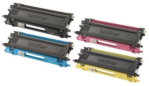 Genuine Brother TN115 (TN115) High Yield Color (Bk/C/M/Y) Toner Cartridge 4-Pack