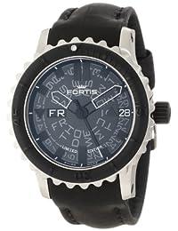 Fortis Men's 675.10.81 L.01 B-42 Big Black Automatic Rotating Bezel Leather Watch