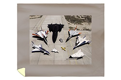 Lantern Press 1997 Dryden Research Aircraft Fleet on Ramp Photograph 1580 (88x104 King Microfiber Duvet Cover)