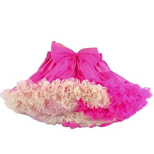 CHAOSHUO Tulle Pettiskirt Toddler Kid Girls Ballet Tutu Princess Dress Birthday Party (1T-12Y)(RoseBeige, -
