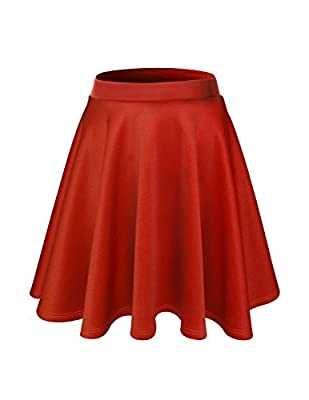 FLATSEVEN Womens Flared Skater Mini Skirt (Made In USA)