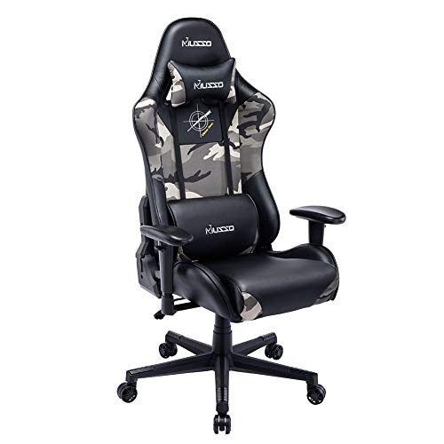 Musso Ergonomic Camouflage Gaming Chair Adjustable Esports Gamer Chair, Adults Racing Video Game...