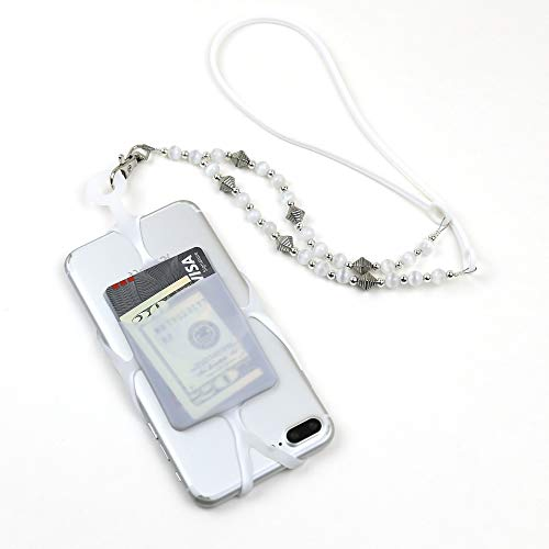 Cell Phone Lanyard Holder with Designer Beaded and Silicone Neck Strap, Smartphone Case for iPhone Xs Max XR X 8 7 6S Plus Samsung Galaxy S10 S9 S8 Note 9 Pixel 3 XL