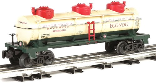 Williams by Bachmann Christmas Eggnog O Scale 3Dome Tank Car