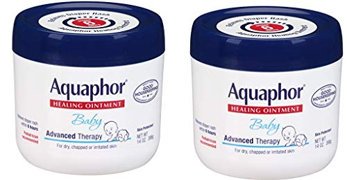 Aquaphor Baby Healing Ointment Advanced Therapy Skin Protectant, 14 Ounce, 2 Pack