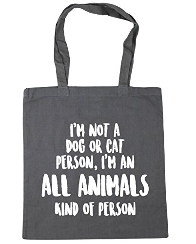 HippoWarehouse I'm Beach I'm Person or Tote an Graphite Shopping Kind Cat x38cm 42cm Not Bag Animals a Dog of Grey Person Kind Gym All of 10 litres HHfrdxzwq