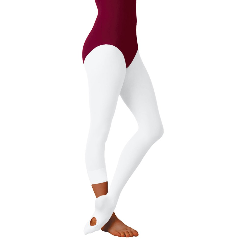 Body Wrappers A31 Women's Total Stretch Convertible Tights (Tall - White) by Body Wrappers