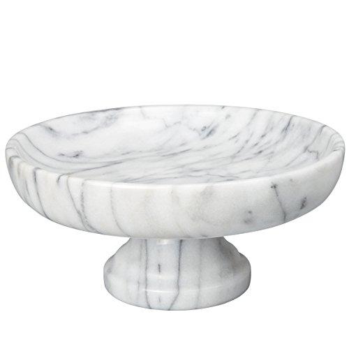 Creative Home Marble Fruit Bowl on Pedestal, 10