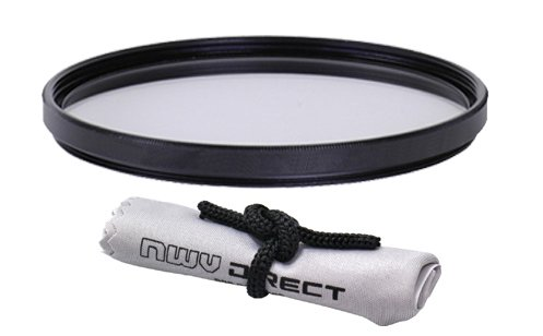 Vivitar High Grade Multi-Coated Multi-Threaded UV (Skylight 1A) Filter (86mm) + Nwv Direct Microfiber Cleaning Cloth. (Alternative For Tiffen Part# 86CUVP) by Vivitar
