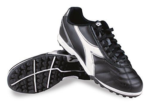 Diadora Men's Capitano Turf Soccer Shoes, Black/White 9.5 D(M) US