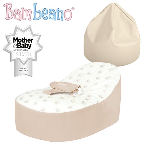 Miraculous Bambeano Baby Bean Bags Support Chair With Free My 1St Bean Bag Cover Luxury Cuddle Soft Cotton Natural Cream Ibusinesslaw Wood Chair Design Ideas Ibusinesslaworg
