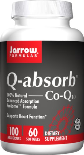 Jarrow Formulas Q-Absorb Co-Q10, Supports Heart Function, 100 mg, 60 Softgels