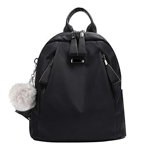 Ladies Black Backpack Purse - Women Backpack Purse Nylon Waterproof Anti-theft Rucksack Shoulder Backpacks Ladies Travel bags(Black)