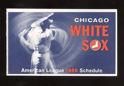 1966 Chicago White Sox Baseball Schedule General Finance Add On Back Mint