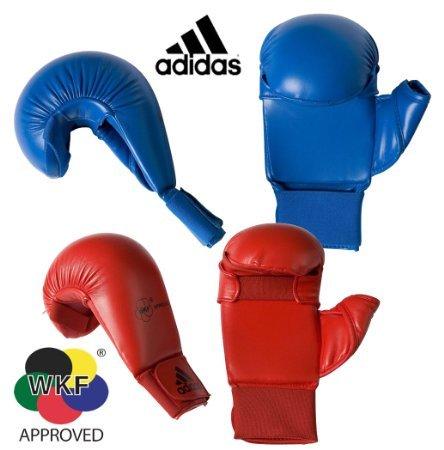 adidas WKF Karate Mitt (Blue, (Karate Glove)