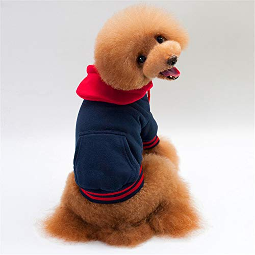 Jdogayncat Pet Clothing, Cotton and Velvet Combination Color Sports Sweater, Small Dog Teddy Bear